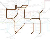 Hounslow Central the Hound Puppy by Animals On the Underground
