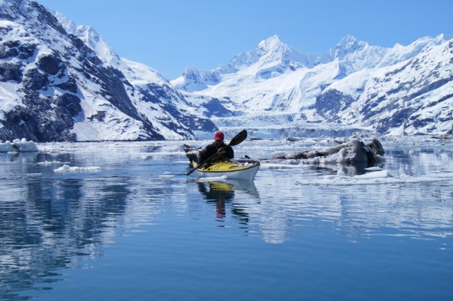 Kayak in Glacier Bay, Alaska by KayakCrazy