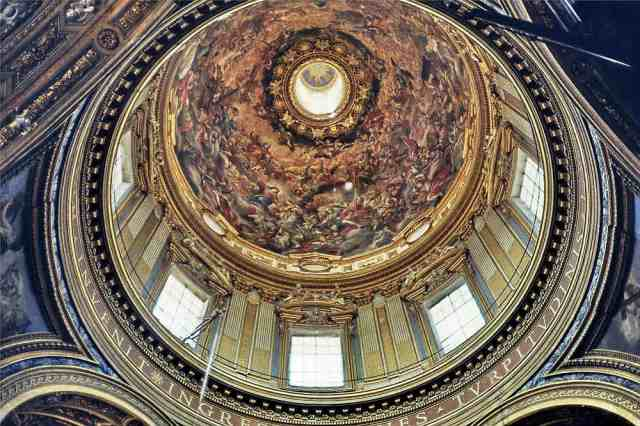 Sant'Agnese in Agone, interno cupola
