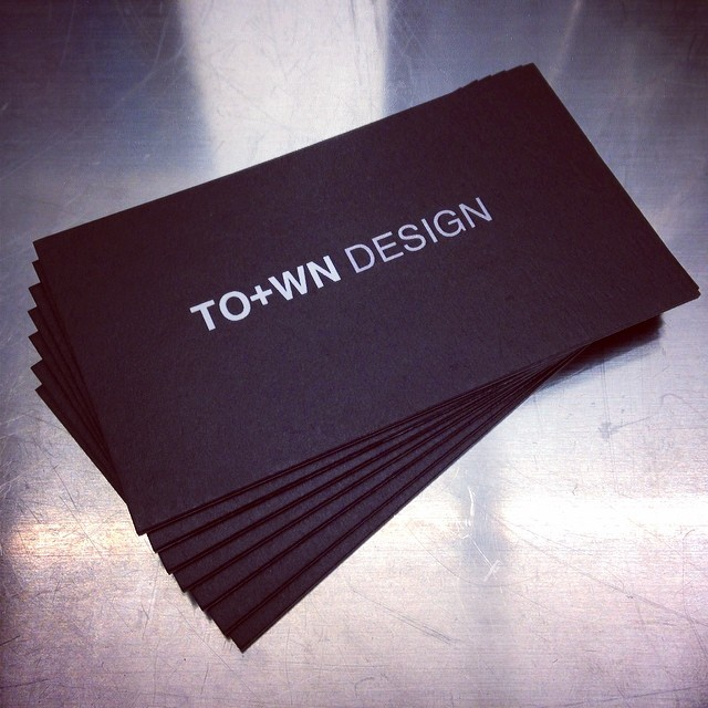 town design business card
