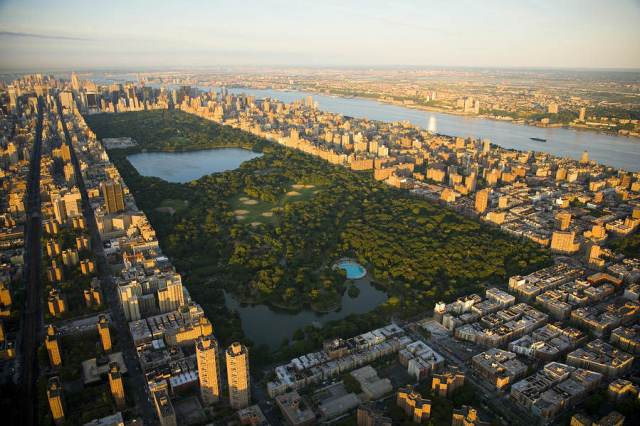 Central Park, New York, Stati Uniti, Aerial View