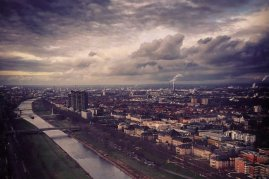 View over Mannheim panorama from Fernmeldeturm Germany © smartraveller blog