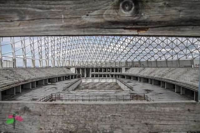 Abandoned sport center designed by Santiago Calatrava, Rome - smartraveller blog
