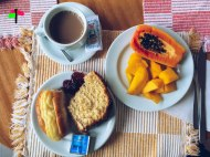 Ilha Grande - breakfast at recreio da praia vila do abraoo smartraveller blog